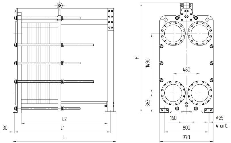 Уплотнения теплообменника Ридан НН 121 Жуковский Пластинчатый теплообменник HISAKA SX-83L Тамбов