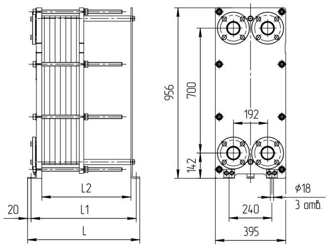 Теплообменник Ридан НН 19 Ду65 Пенза Уплотнения теплообменника Анвитэк AX 100 Кострома
