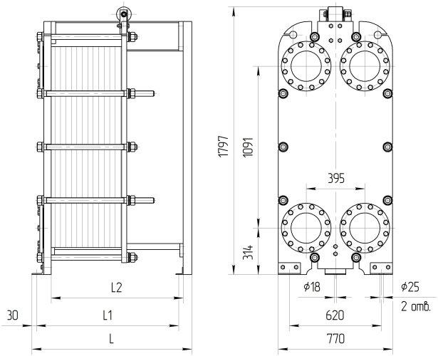 Крит теплообменник Кожухотрубный конденсатор Alfa Laval CDEW-215 T Элиста